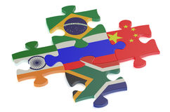 BRICS concept with puzzle Royalty Free Stock Photography
