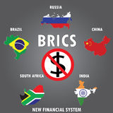 BRICS countries, infographics, Stock Image