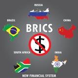 BRICS countries, infographics, Stock Image