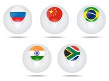 Brics flagga royaltyfri illustrationer