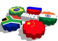 BRICS members national flags