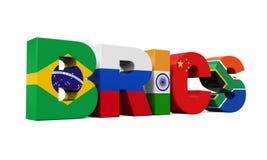 BRICS pojęcia ilustracja Fotografia Royalty Free