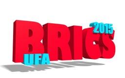 Brics summit in ufa russia 2015 Royalty Free Stock Photo