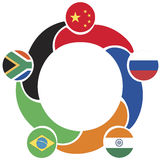 Brics symbol Royalty Free Stock Photo