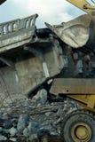 bridżowa cementowa rozbiórka zdjęcie royalty free