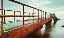 Bridżowa denna panorama zdjęcie royalty free