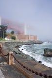 bridżowa dzień fogy brama złota Zdjęcia Royalty Free