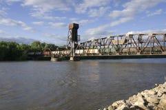 bridżowa hastings dźwignięcia linia kolejowa zdjęcie stock