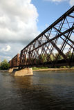 bridżowa linia kolejowa Fotografia Royalty Free