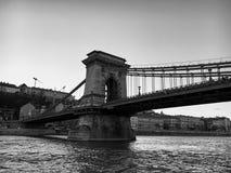 Bridżowa perspektywa i Architektoniczni szczegóły w Budapest Obraz Royalty Free