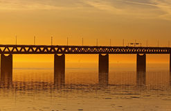 bridżowa złota kulisowa pomarańcze Obrazy Royalty Free
