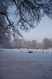 bridżowa zima zdjęcie stock
