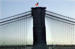 bridżowego Brooklyn miasta nowa sylwetka York Obraz Stock