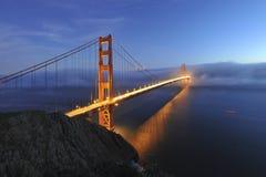 bridżowej bramy złota noc scena Obraz Stock