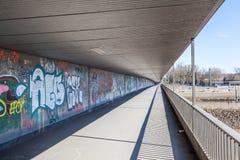 bridżowi graffiti Obrazy Stock