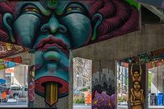 Bridżowi sztuka graffiti zdjęcia royalty free