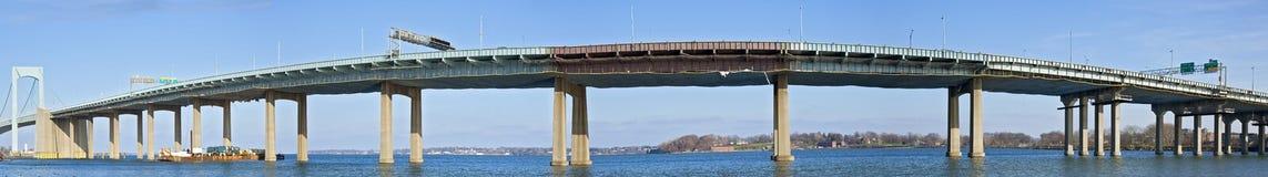 bridżowi szyi panoramy throgs obraz royalty free