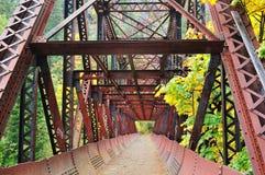 bridżowy żelazny stary Fotografia Royalty Free
