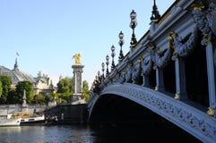 Bridżowy Alexandre III w Paryż Obraz Stock