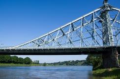 Bridżowy Błękitny cud, Drezdeński, Niemcy obrazy stock