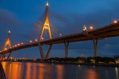 bridżowy bhumipol królewiątko dwa Fotografia Royalty Free