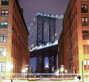 bridżowy Brooklyn nowy York Fotografia strzelał od Brooklyn strony Obraz Royalty Free