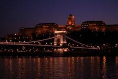 bridżowy Budapest łańcuch obraz stock
