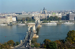 bridżowy Budapest łańcuszkowy Hungary Zdjęcia Royalty Free