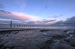 bridżowy calatrava da projektował gama Lisbon Santiago Vasco Fotografia Stock