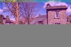 Bridżowy dom, Ambleside Słynna atrakcja turystyczna Obrazy Stock