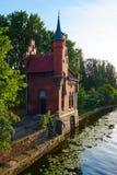 Bridżowy dom Kaliningrad wczesny Kenigsberg Fotografia Royalty Free