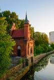 Bridżowy dom w Kaliningrad wczesny Kenigsberg Obrazy Royalty Free