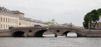 bridżowy inzhenerniy Petersburg st widok zdjęcia stock