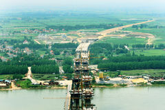 bridżowy jing rzeczny Yangtze Yue Fotografia Stock