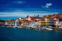 bridżowy miasta budowy douro nad część Porto Portugal rzeką obraz stock