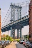 bridżowy miasto Manhattan nowy York Obrazy Royalty Free