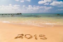 Bridżowy molo na plażowy 2015 Obraz Stock
