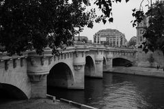 Bridżowy Paryż obrazy stock
