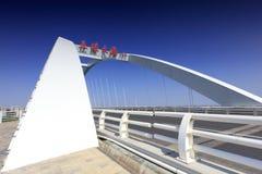 Bridżowy pokład wuyuan most, adobe rgb zdjęcie royalty free