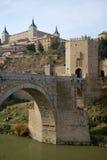 bridżowy stary Toledo zdjęcie stock