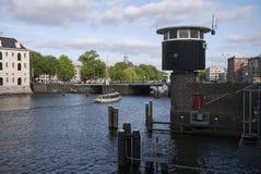 Bridżowy szczegół w Amsterdam obrazy stock