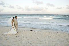 brid karaibów plaży ślub obraz royalty free