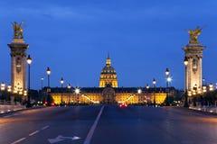 bridżowa Alexander noc France iii Paris Zdjęcie Royalty Free