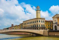Bridżowa architektura w Pisa miasteczku Zdjęcia Stock