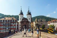 Bridżowa brama Stary most w Heidelberg Fotografia Stock
