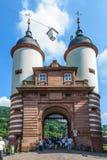Bridżowa brama Stary most w Heidelberg Obraz Stock