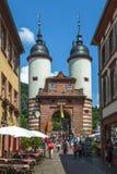 Bridżowa brama Stary most w Heidelberg Fotografia Royalty Free
