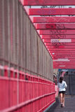 bridżowa dziewczyna przekracza Williamsburg Obraz Stock