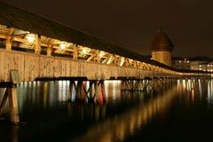 bridżowa kaplica Luzern Switzerland Obraz Stock