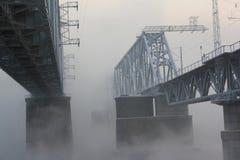 bridżowa kolejowa rzeka Obrazy Stock